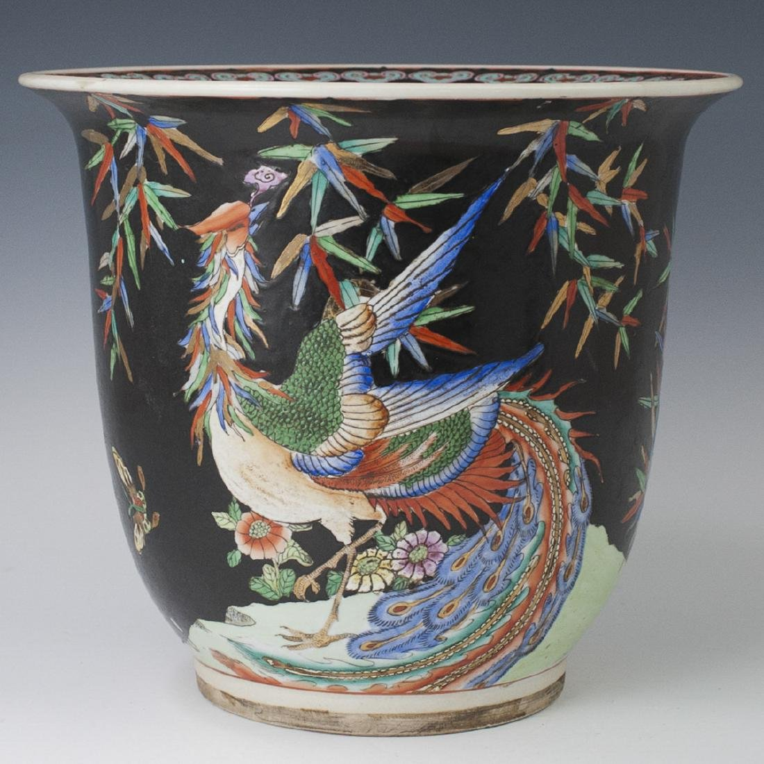 Chinese Famille Noire Porcelain Fishbowl