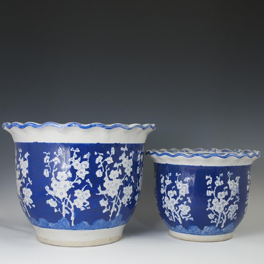 Chinese Porcelain Prunus Fishbowls