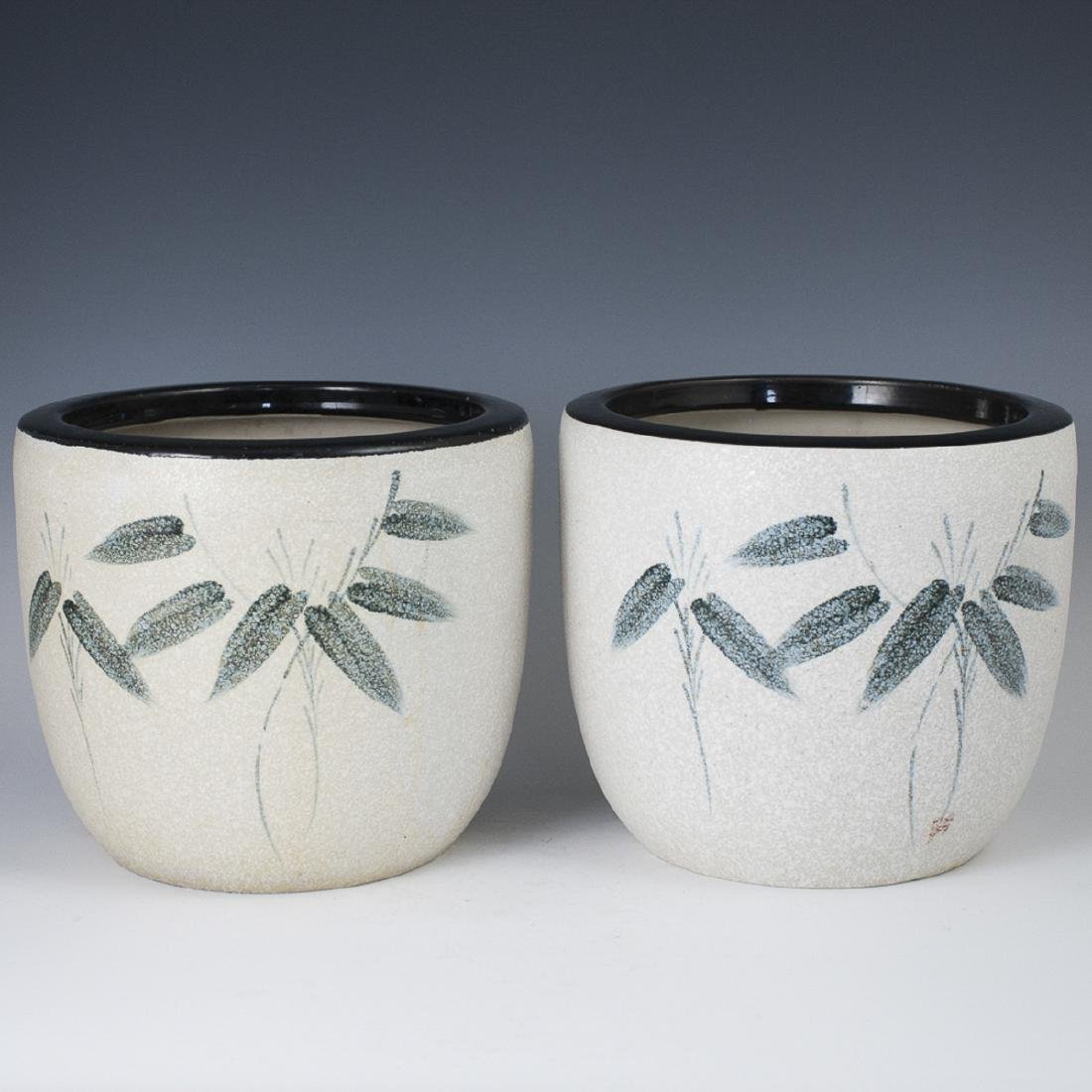 Antique Japanese Pottery Planters