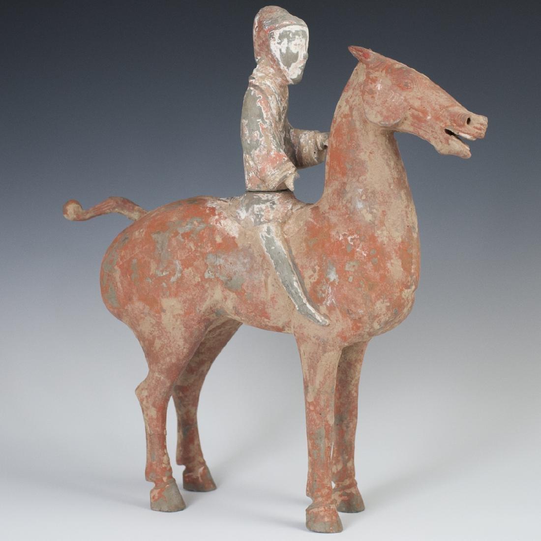 Western Han Dynasty Earthenware Horse & Rider