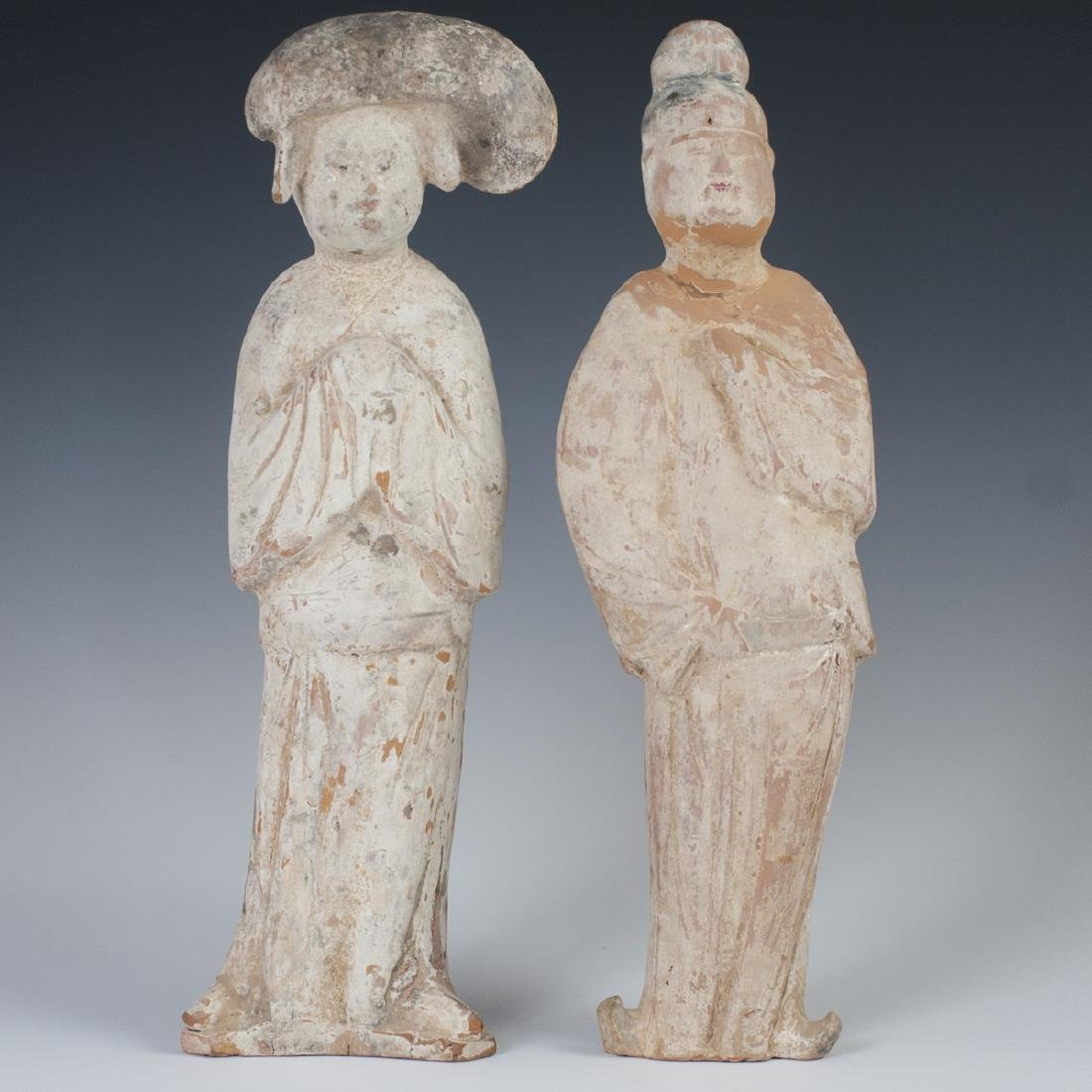 Tang Dynasty Earthenware Court Attendants