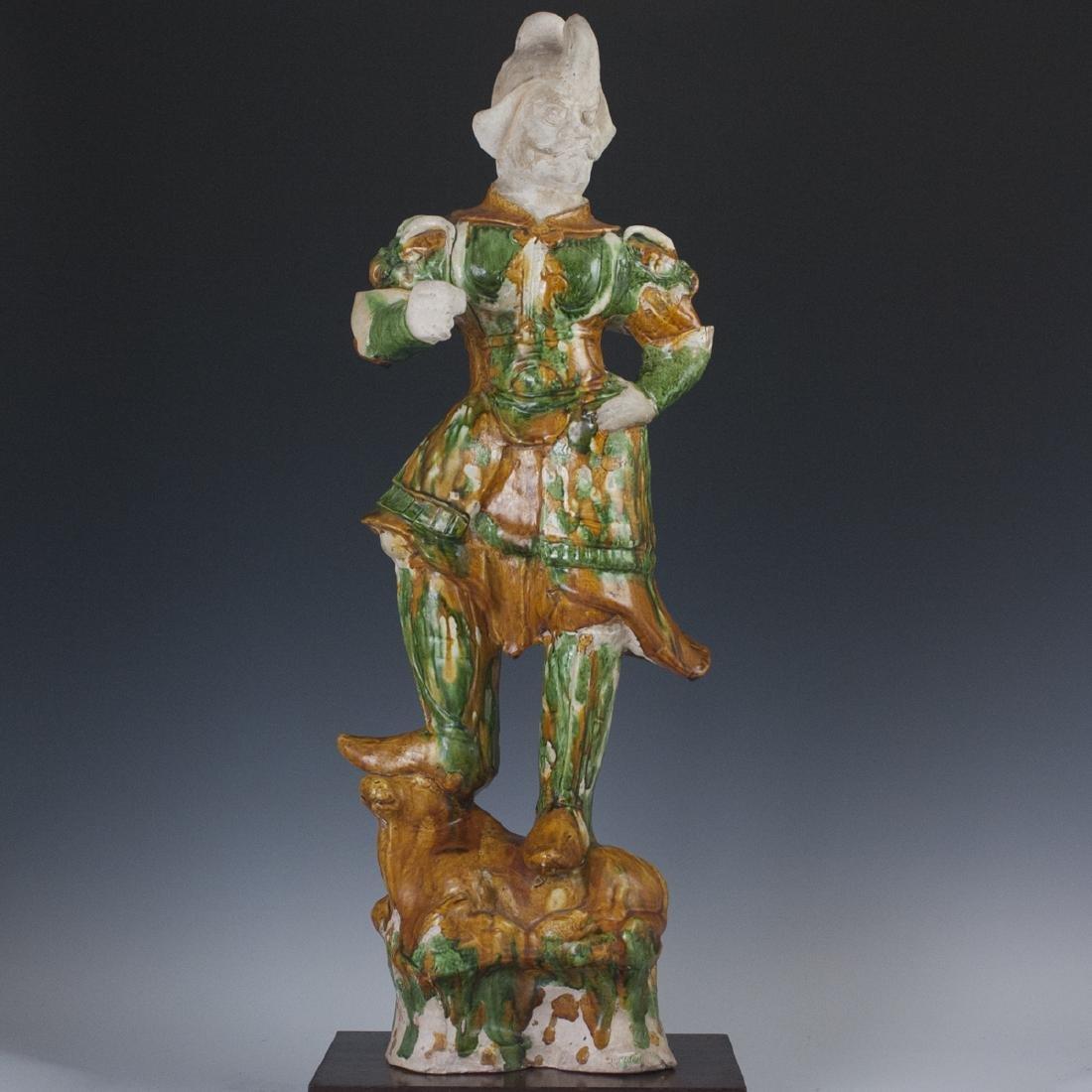 Tang Dynasty Sancai Glazed Earthenware Lokapala