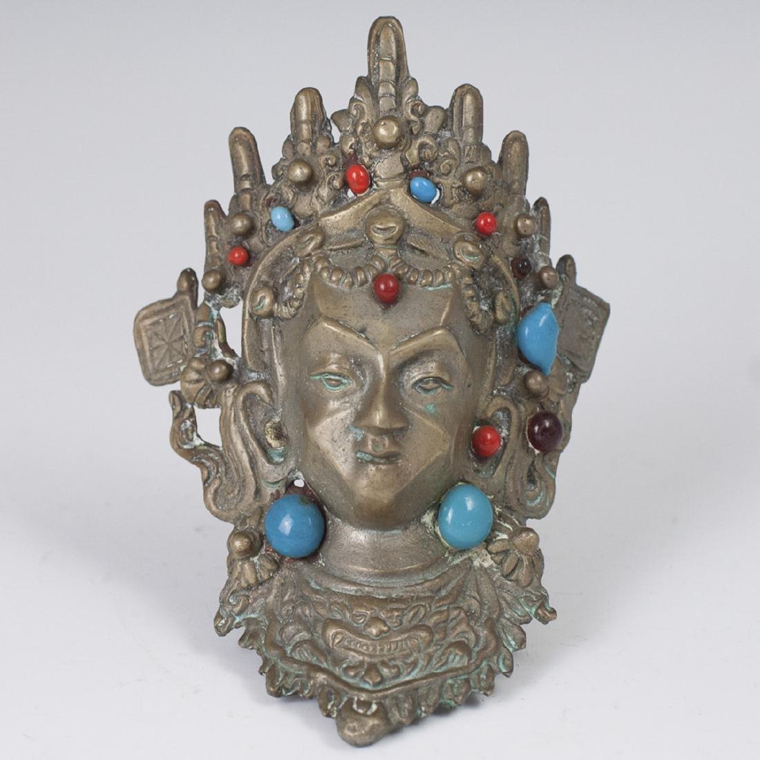 Tibetan Bronze Tara Bust