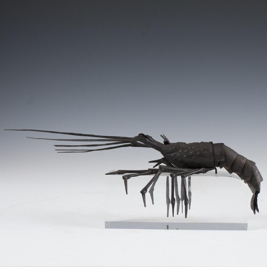 Antique Japanese Articulated Bronze Crawfish