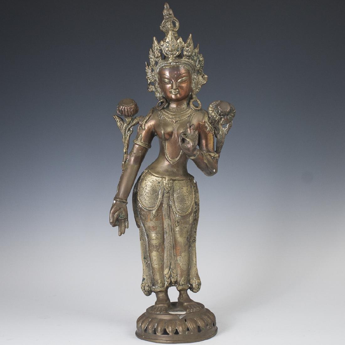 Tibetan Bronze Tara Sculpture