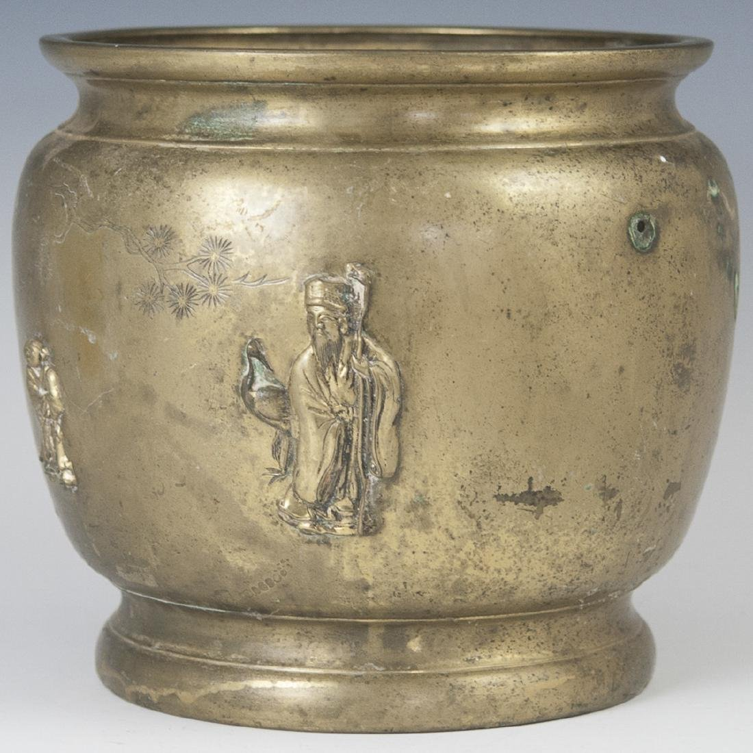 Decorative Chinese Brass Planter
