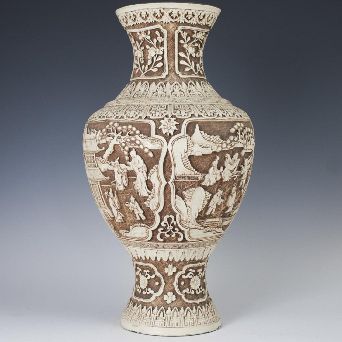 Ivory Dynasty Decorative Resin Vase