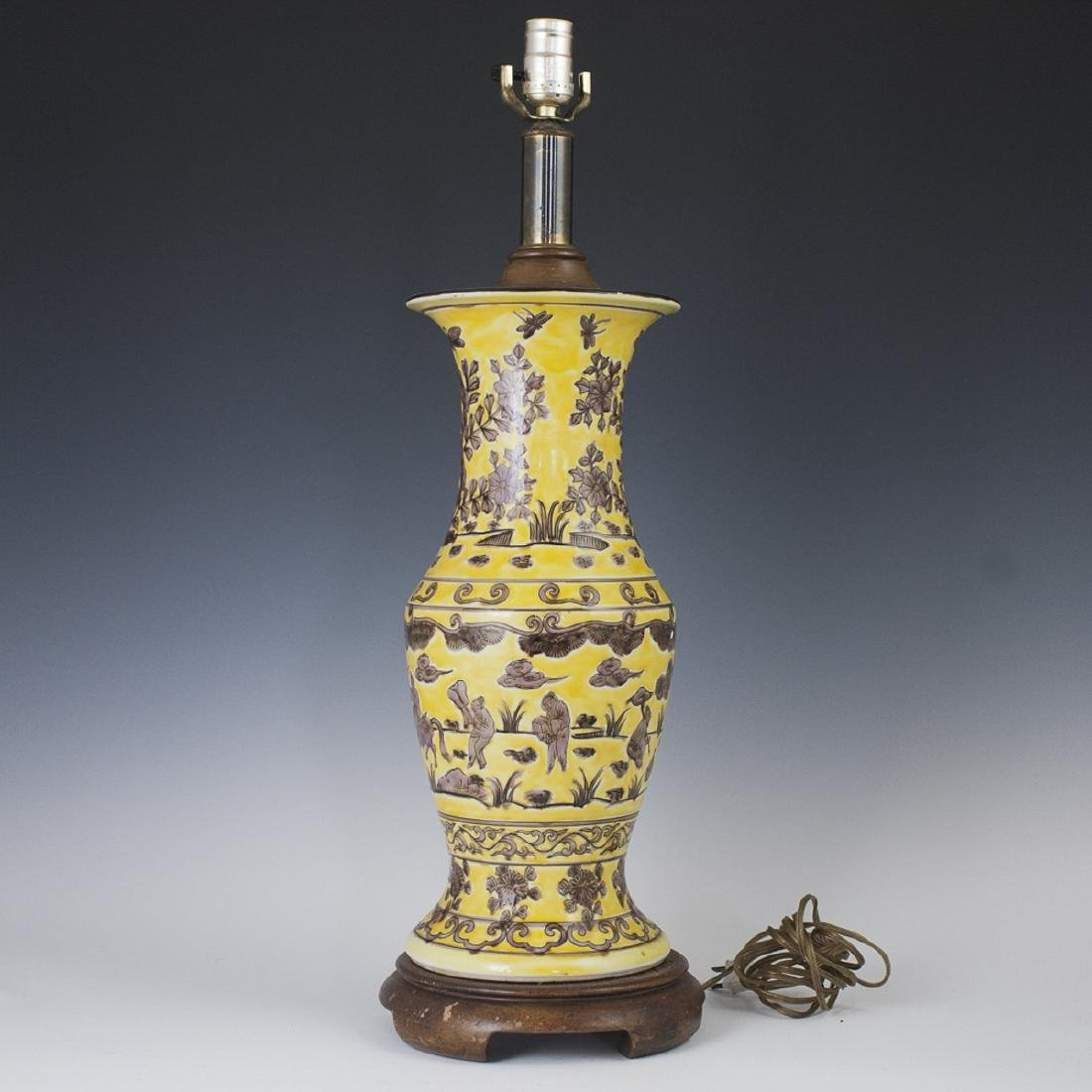 Chinese Enameled Porcelain Lamp