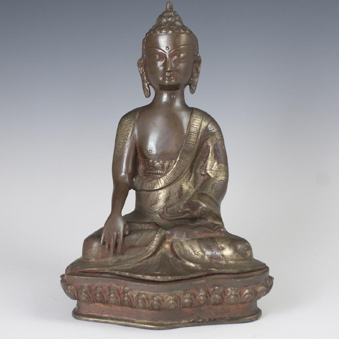Burmese Two Tone Bronze Buddha