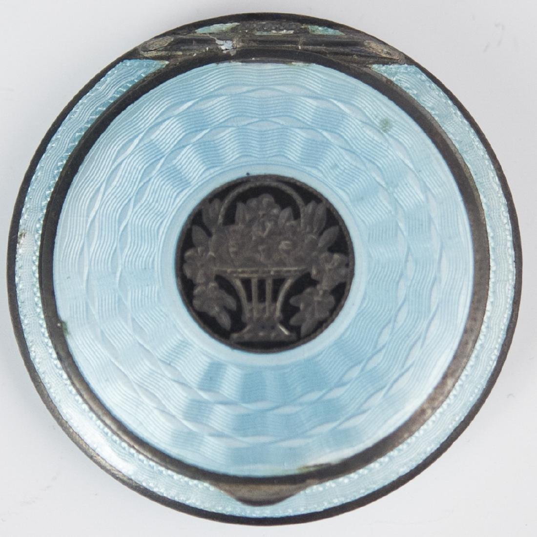 Antique Austrian Sterling Guilloche Enamel Compact