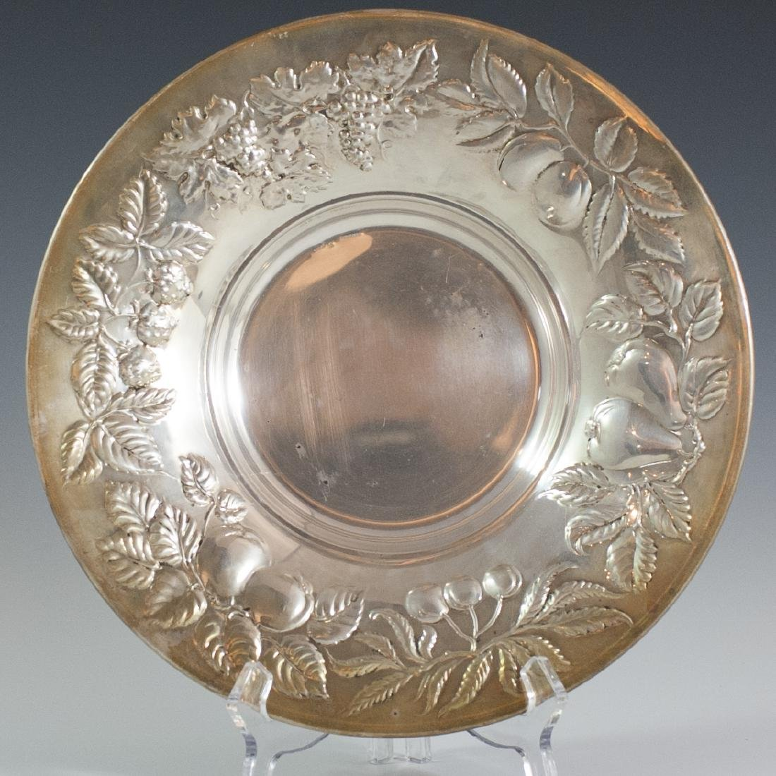 Italian Sterling Repousse Fruit Bowl