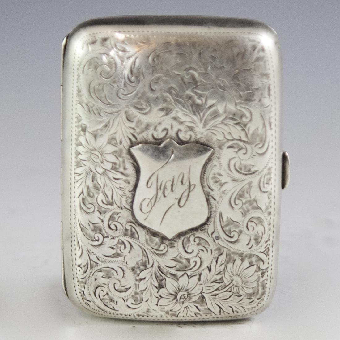 William Williams Sterling Cigarette Box
