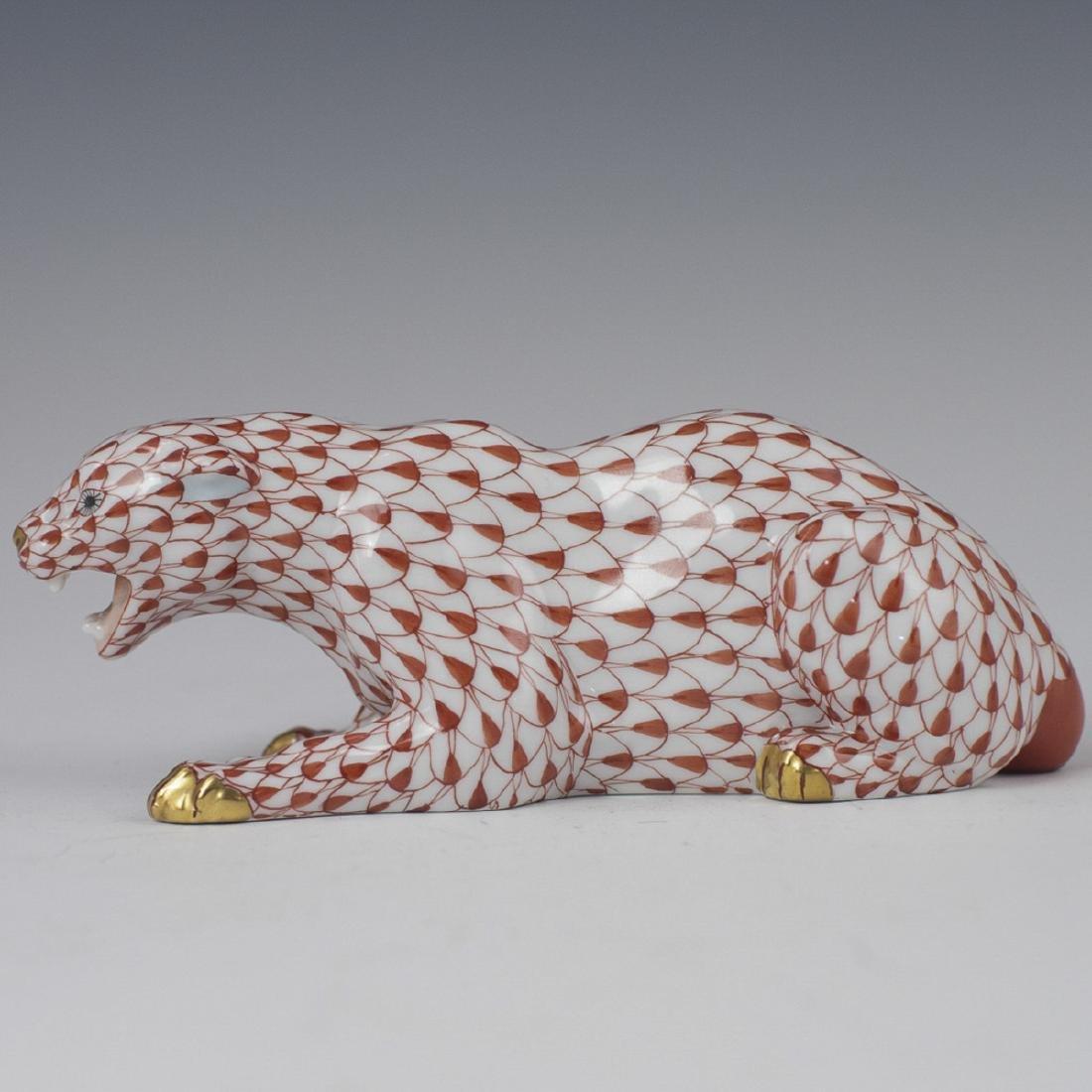 Herend Porcelain Fishnet Panther