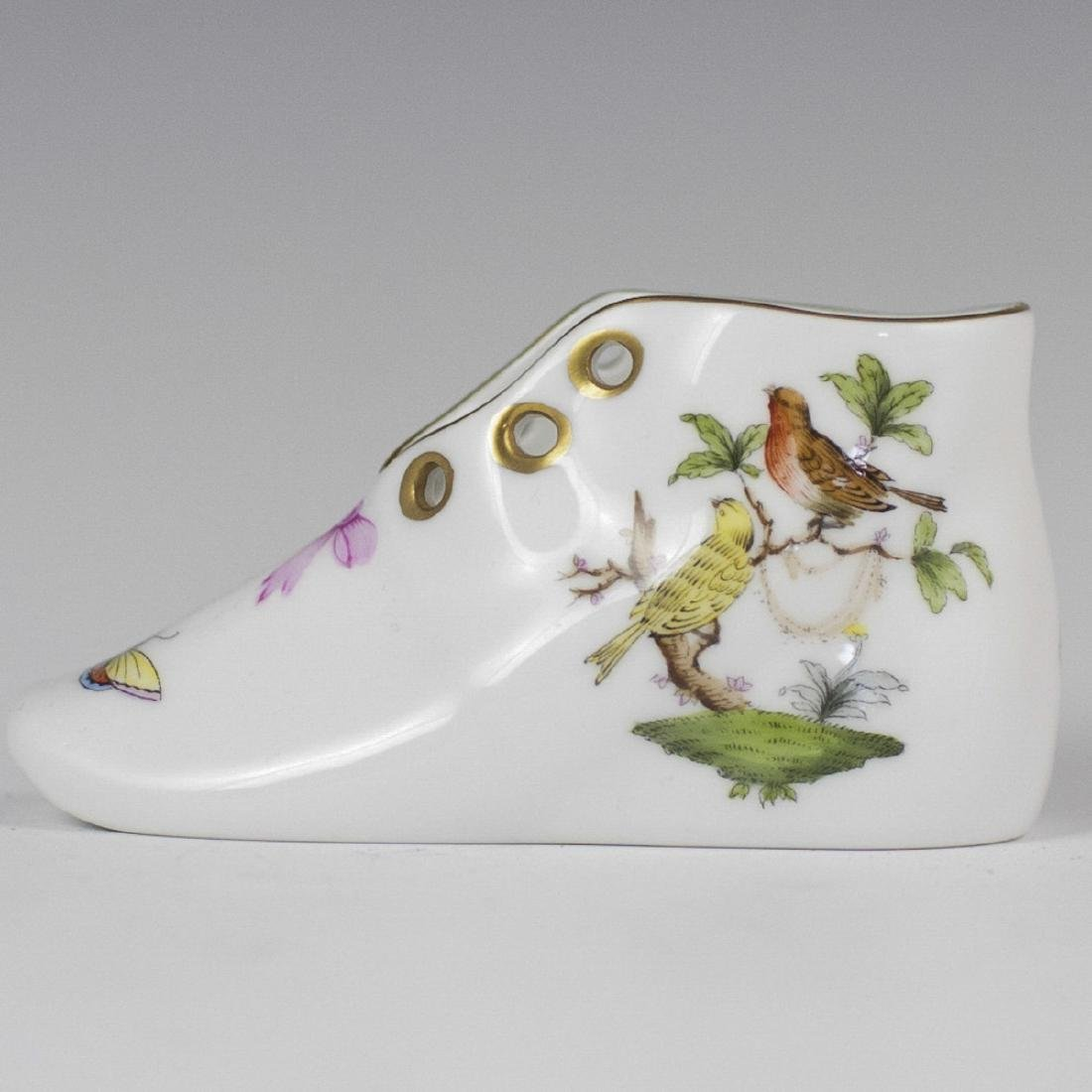 "Herend ""Rothschild"" Porcelain Shoe Cellar"