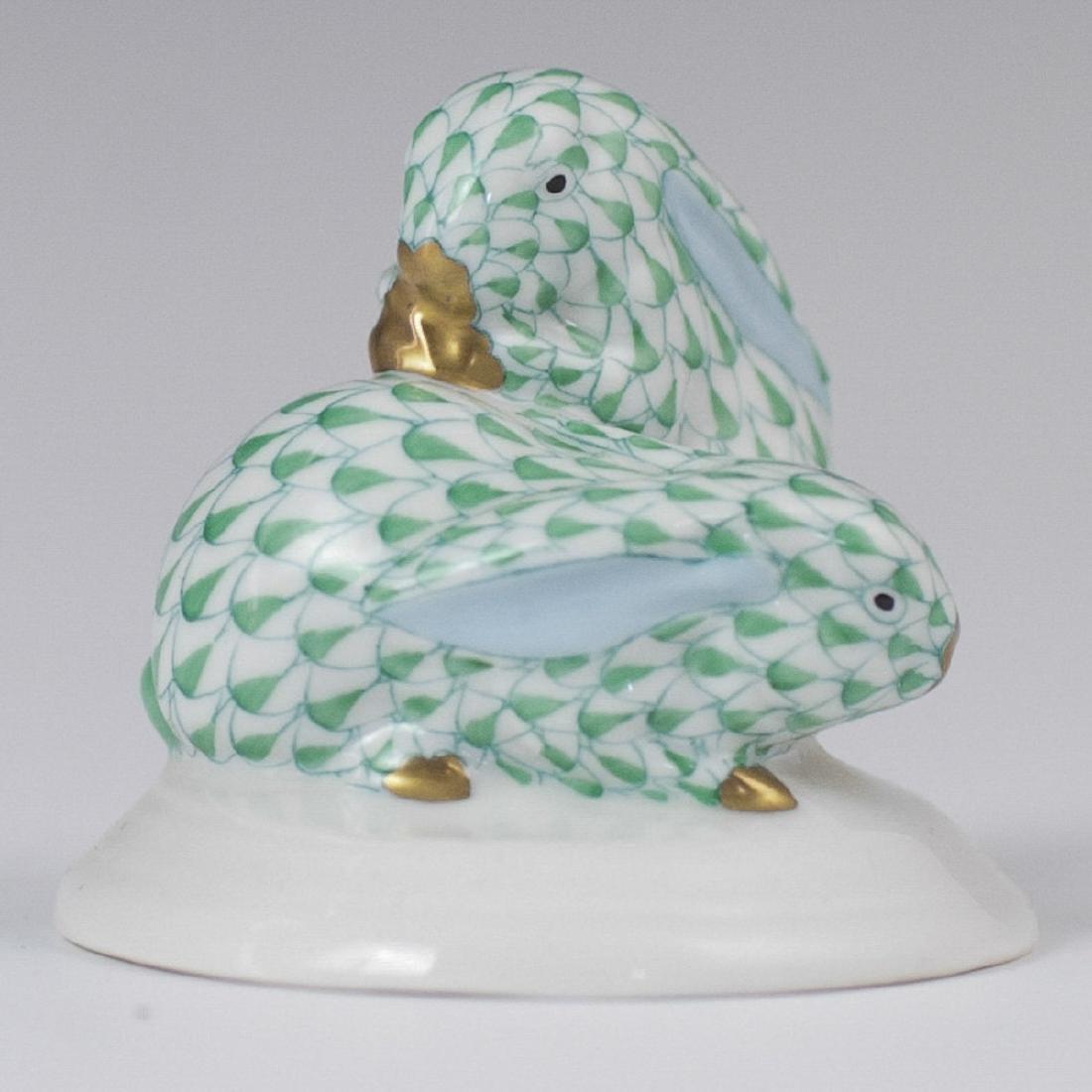 Herend Porcelain Fishnet Rabbits