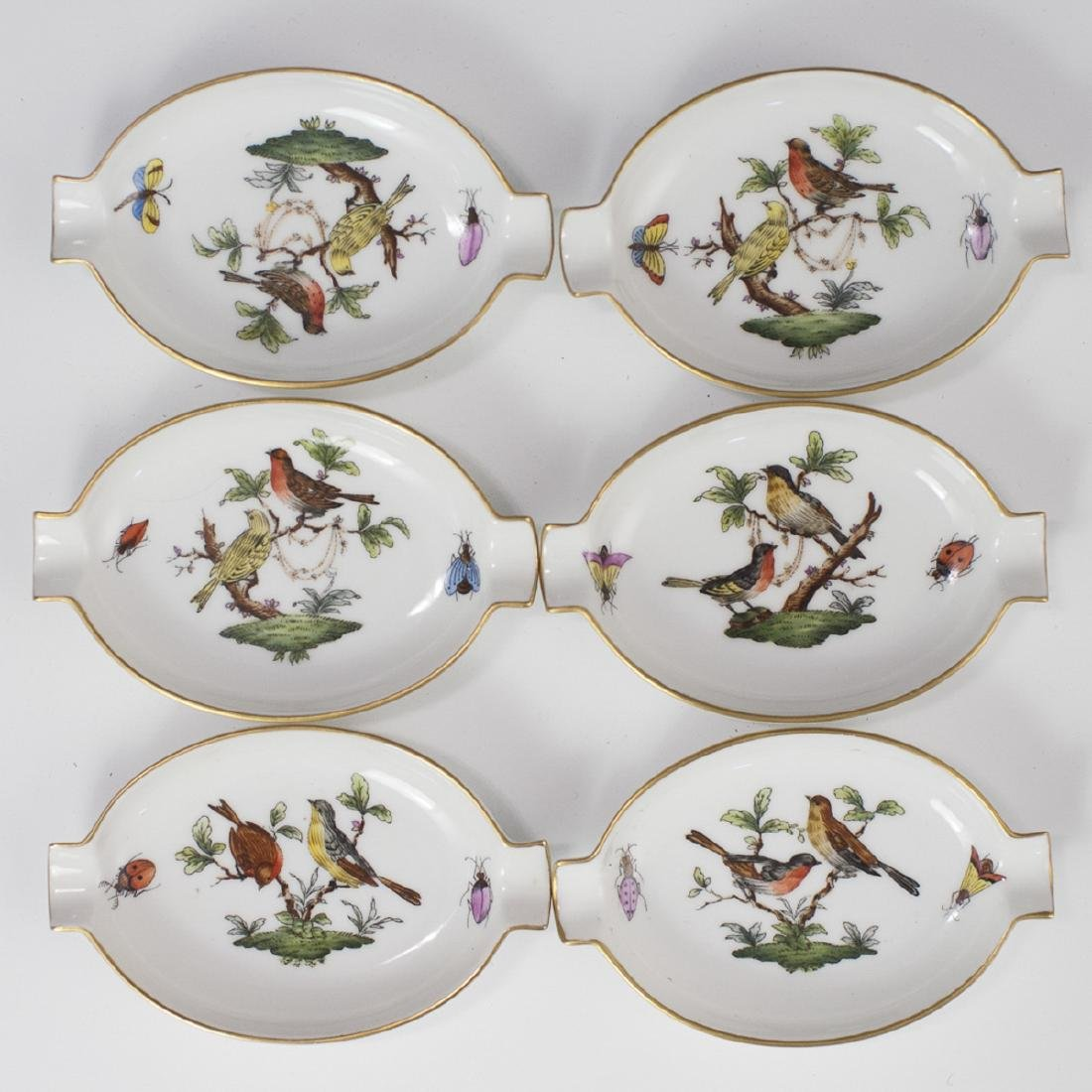 """Herend """"Rothschild"""" Porcelain Ashtrays"""