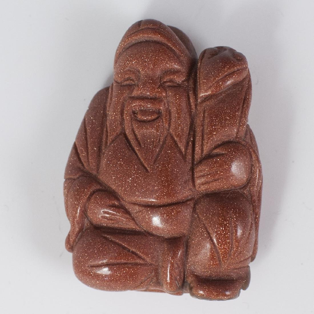 Chinese Carved Goldstone Figurine