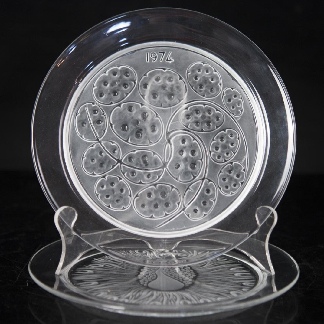Lalique Crystal Annual Plates