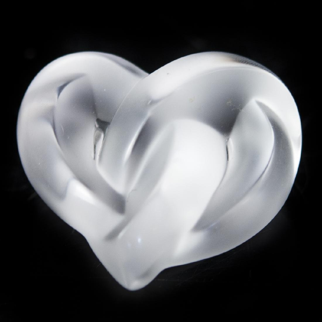 Lalique Crystal Heart Paperweight