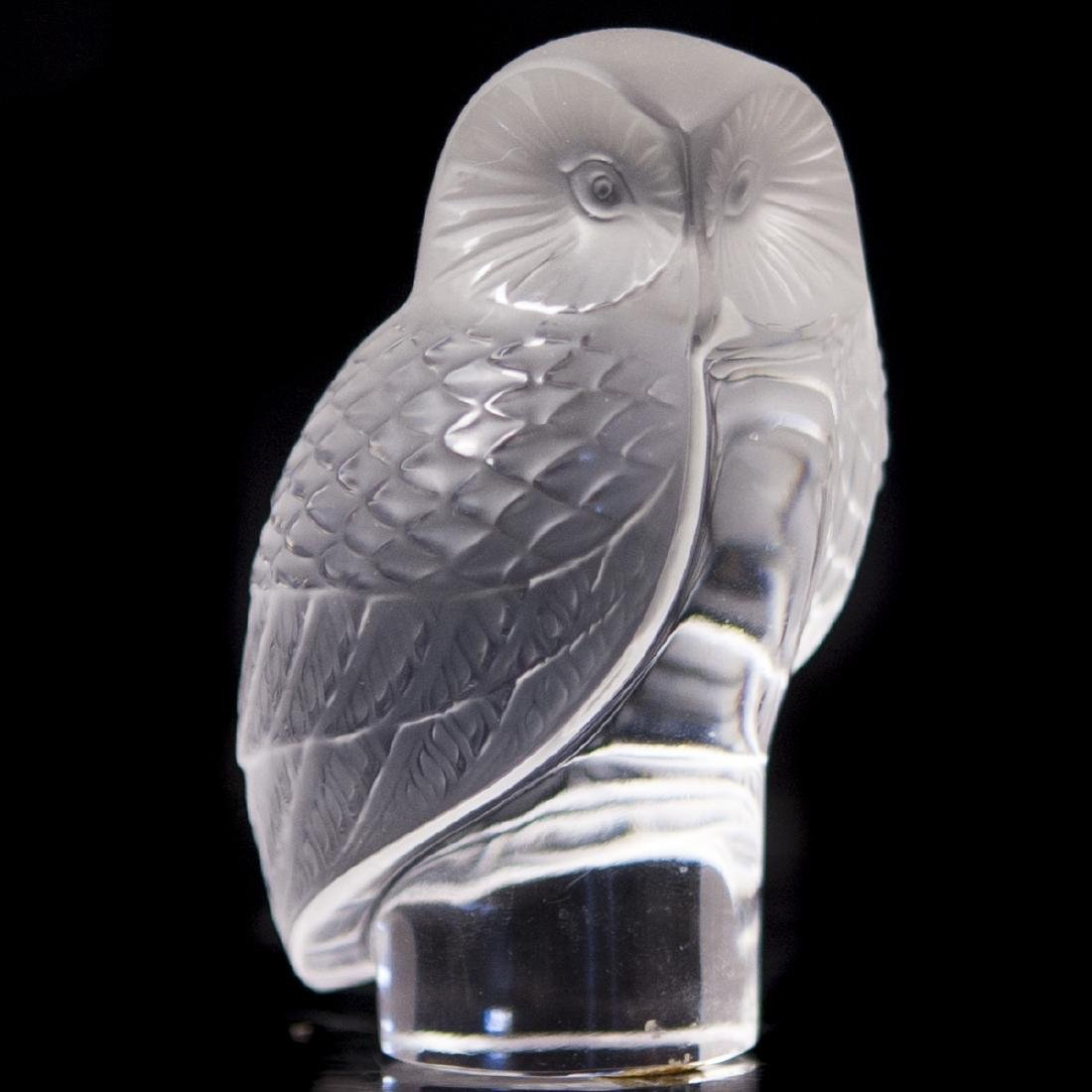 """Lalique Crystal """"Chouette"""" Paperweight"""
