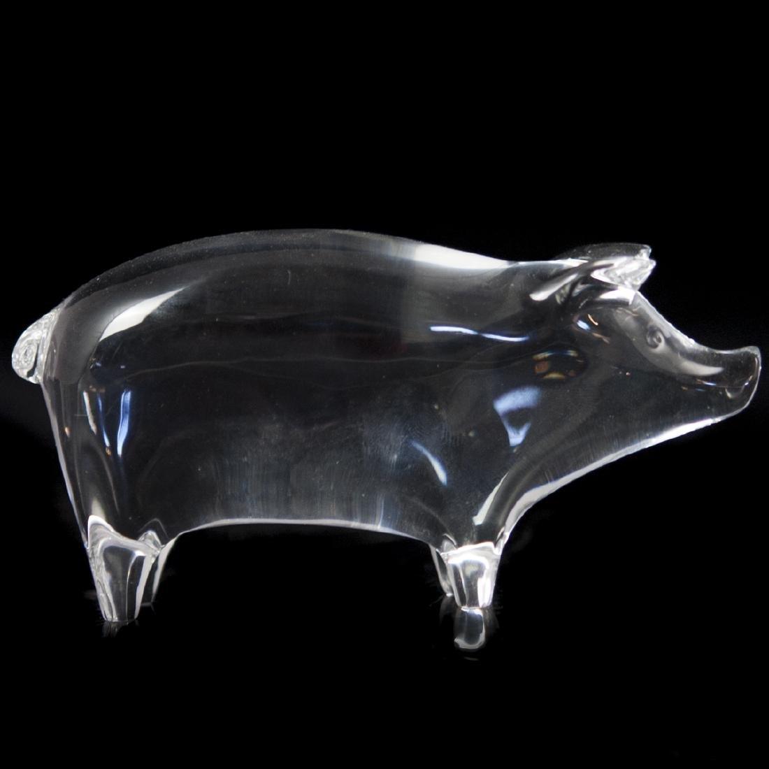 Baccarat Crystal Pig