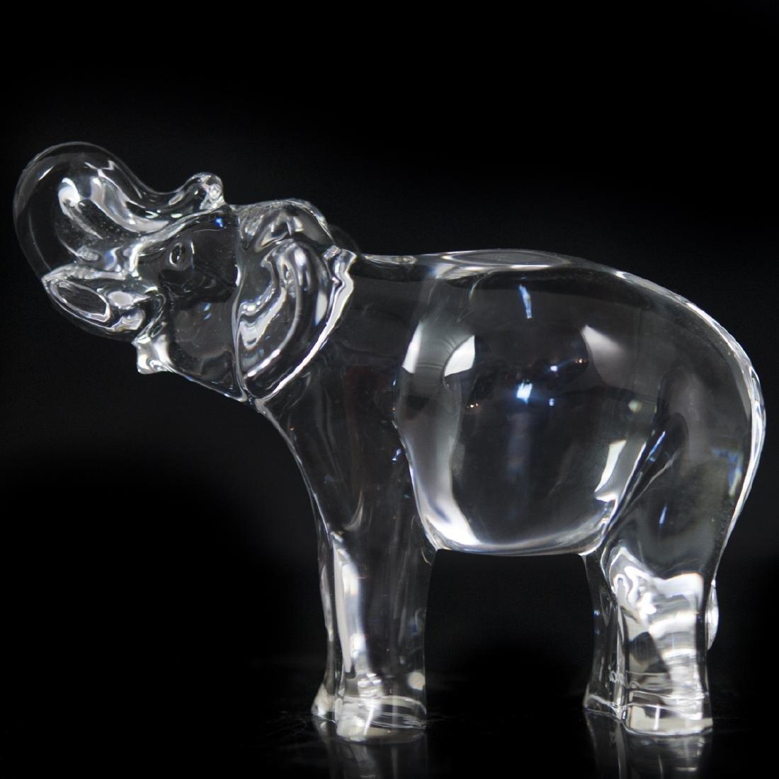 Baccarat Crystal Elephant