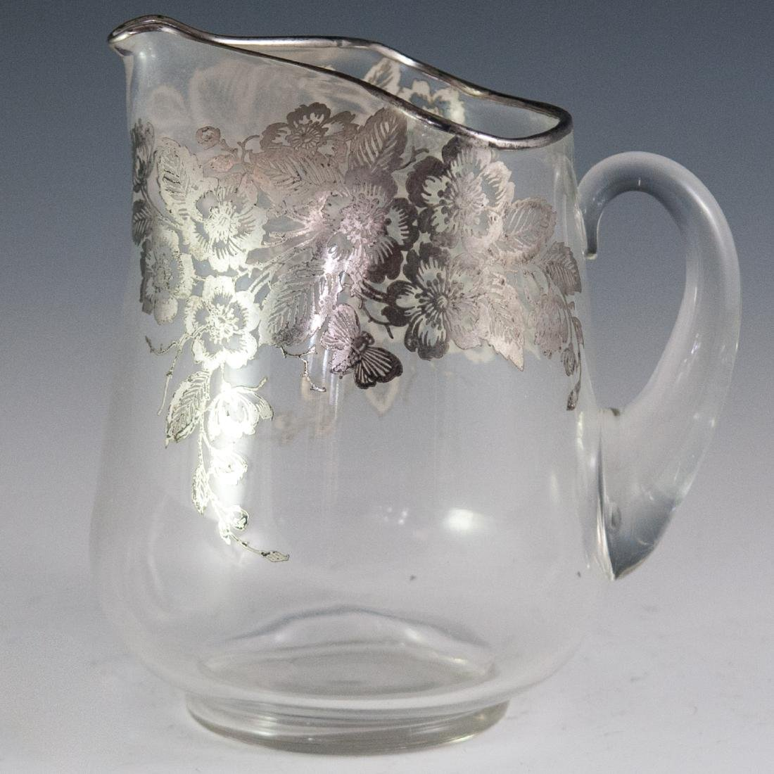 Silver Overlaid Crystal Pitcher