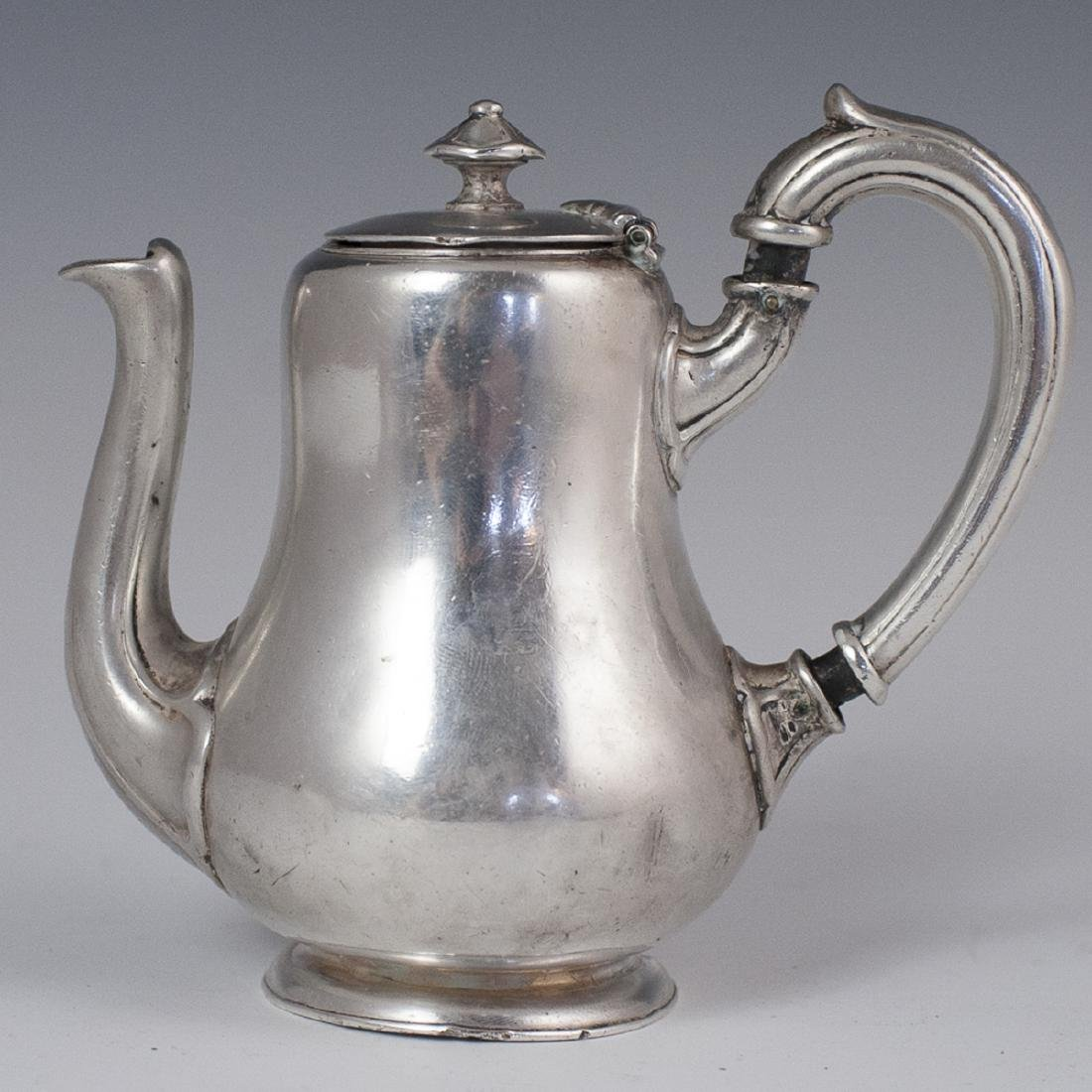 Antique Christofle Metal Blanc Teapot