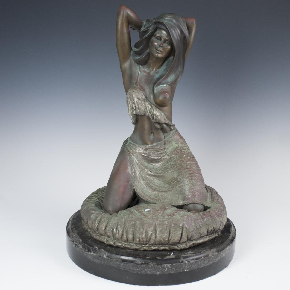 Signed Bronze Nude Sculpture