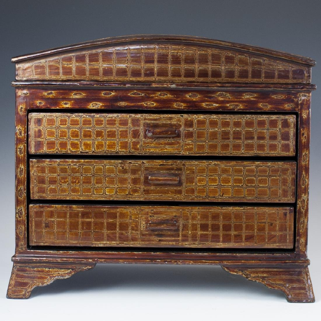 Vintage Lacquered Wood Chest
