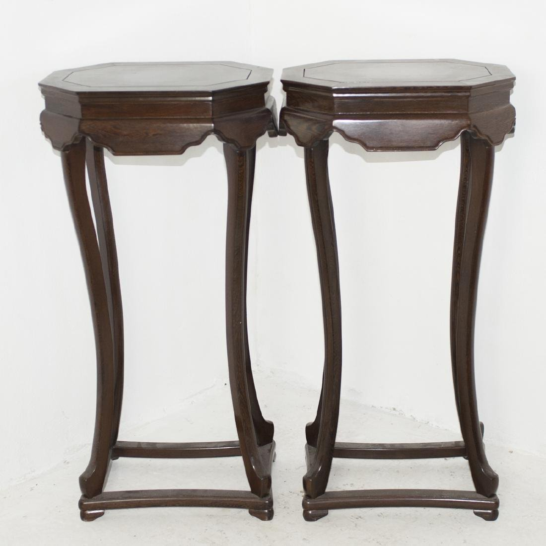 Carved Chinese Wooden Pedestals