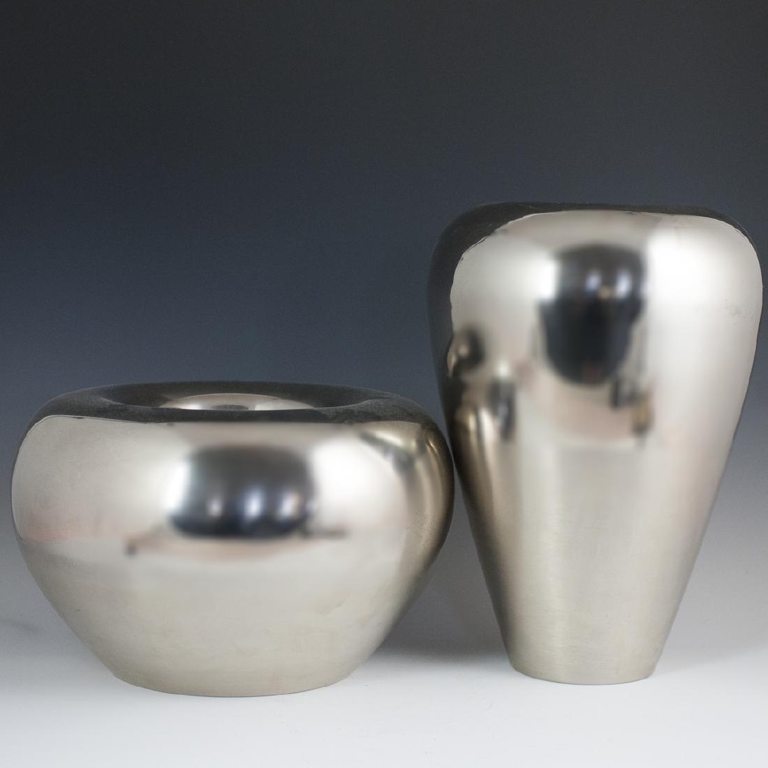 Contemporary Aluminum Vases