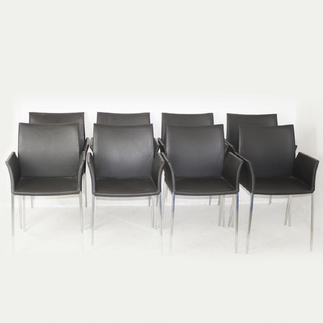 Contemporary Zanotta Leather Dining Chairs