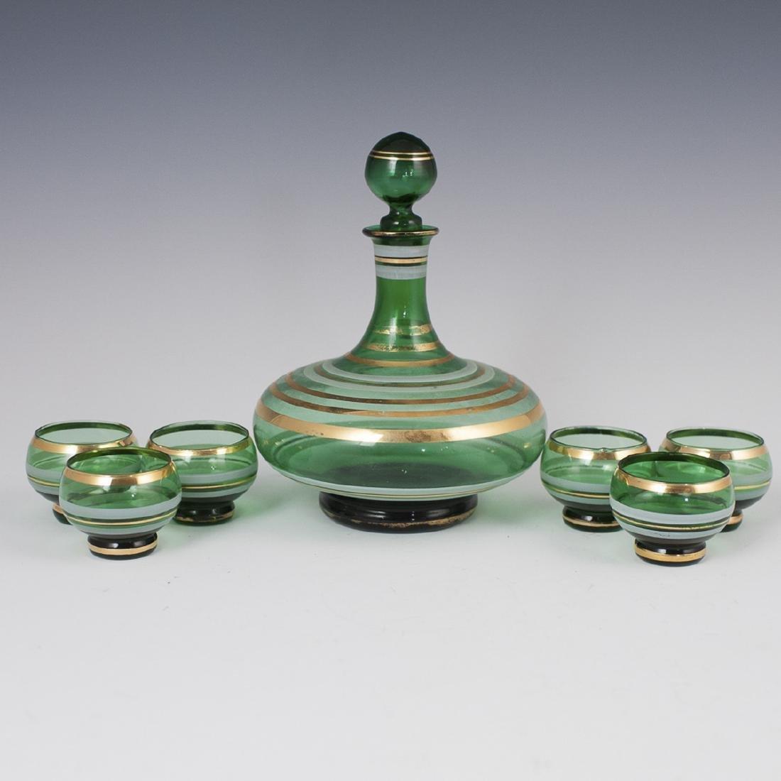 Italian Glass Liquor Set