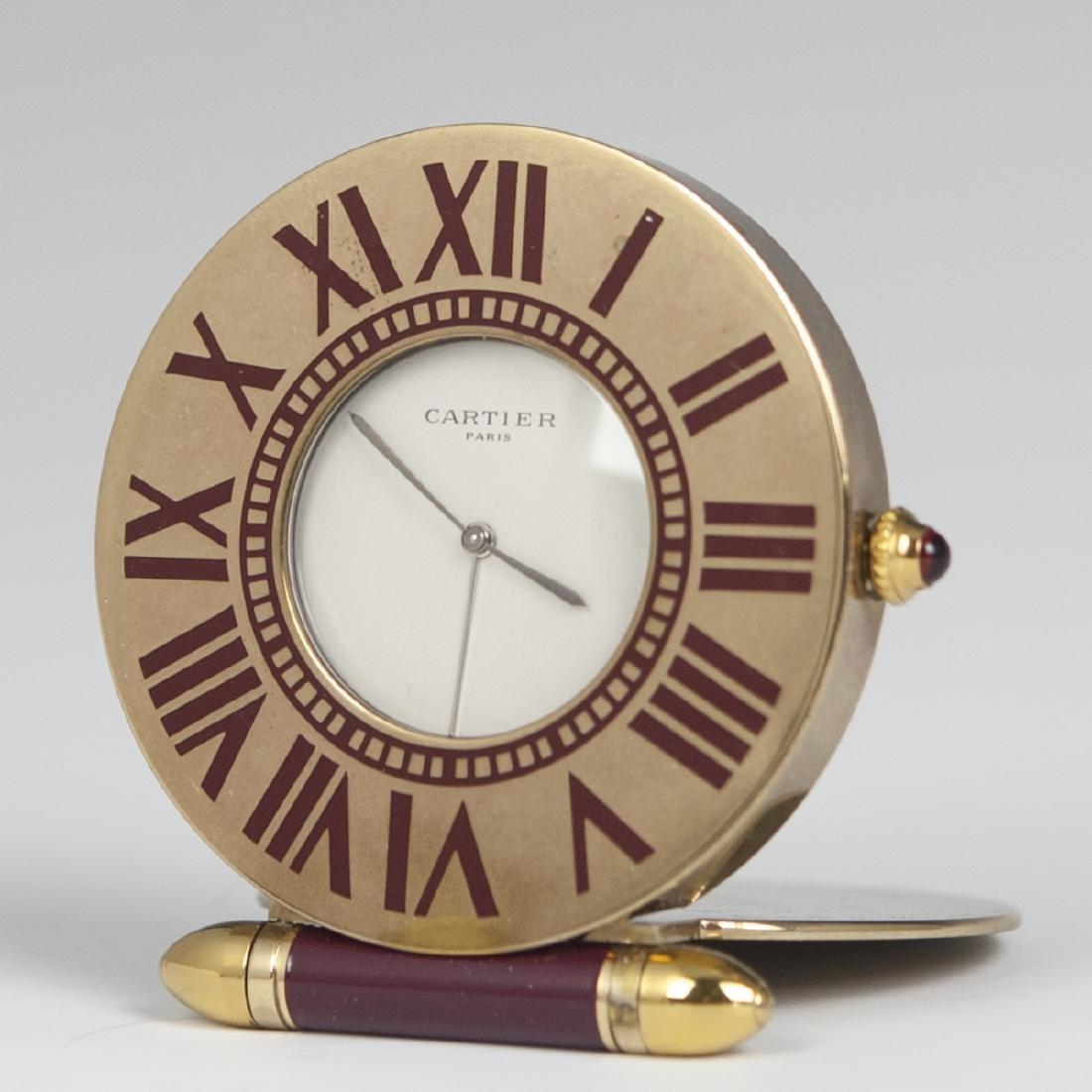 Vintage Cartier Enamel Travel Clock