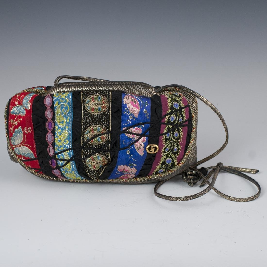 Carlo Fiori Patchwork & Leather Purse