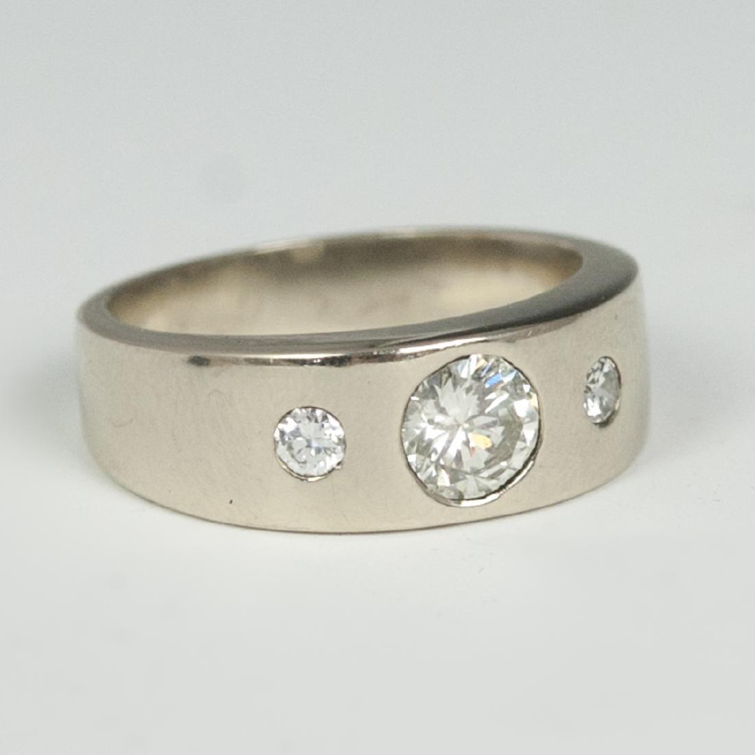 18k Gold Diamond Men's Ring