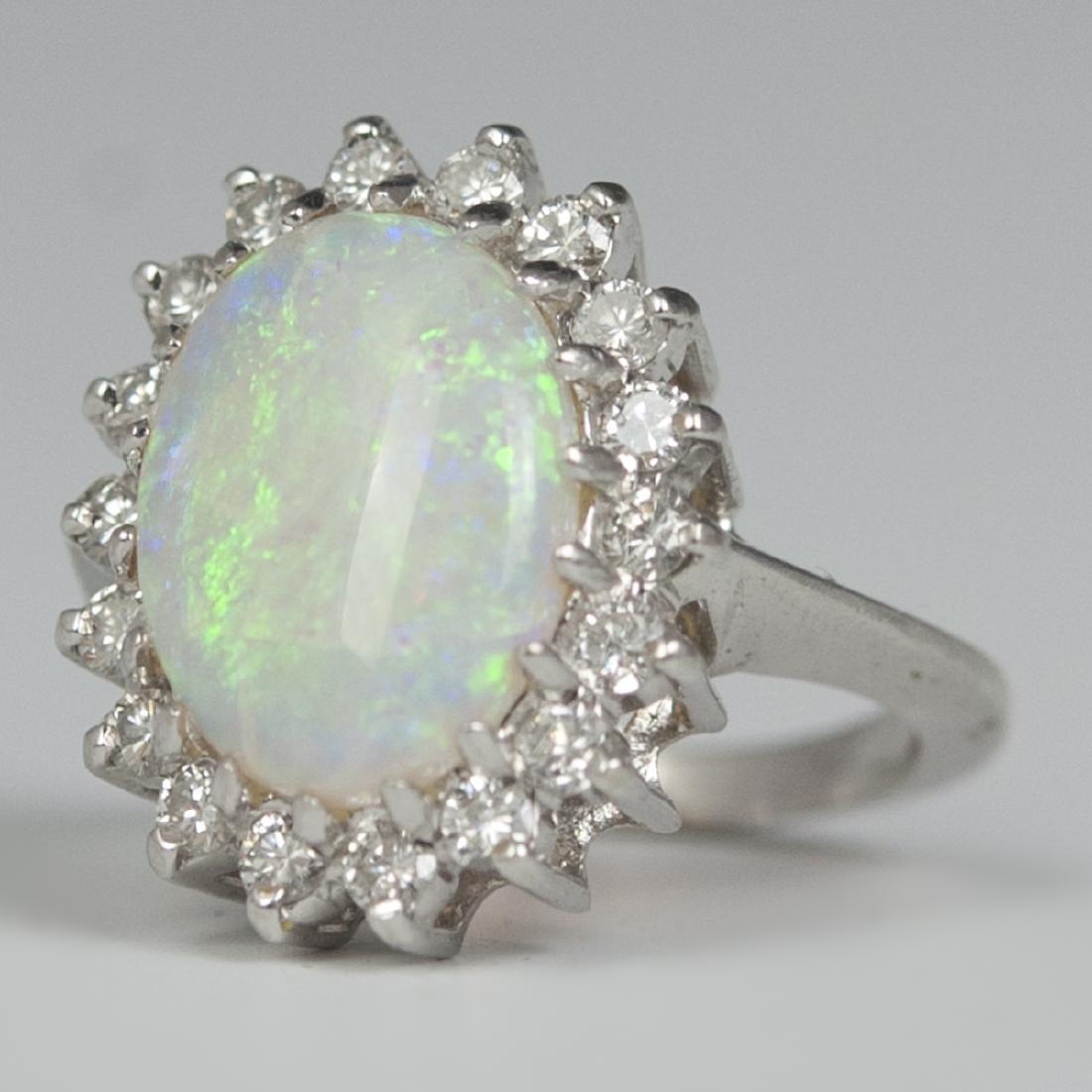 14kt Gold Diamond & Opal Ring