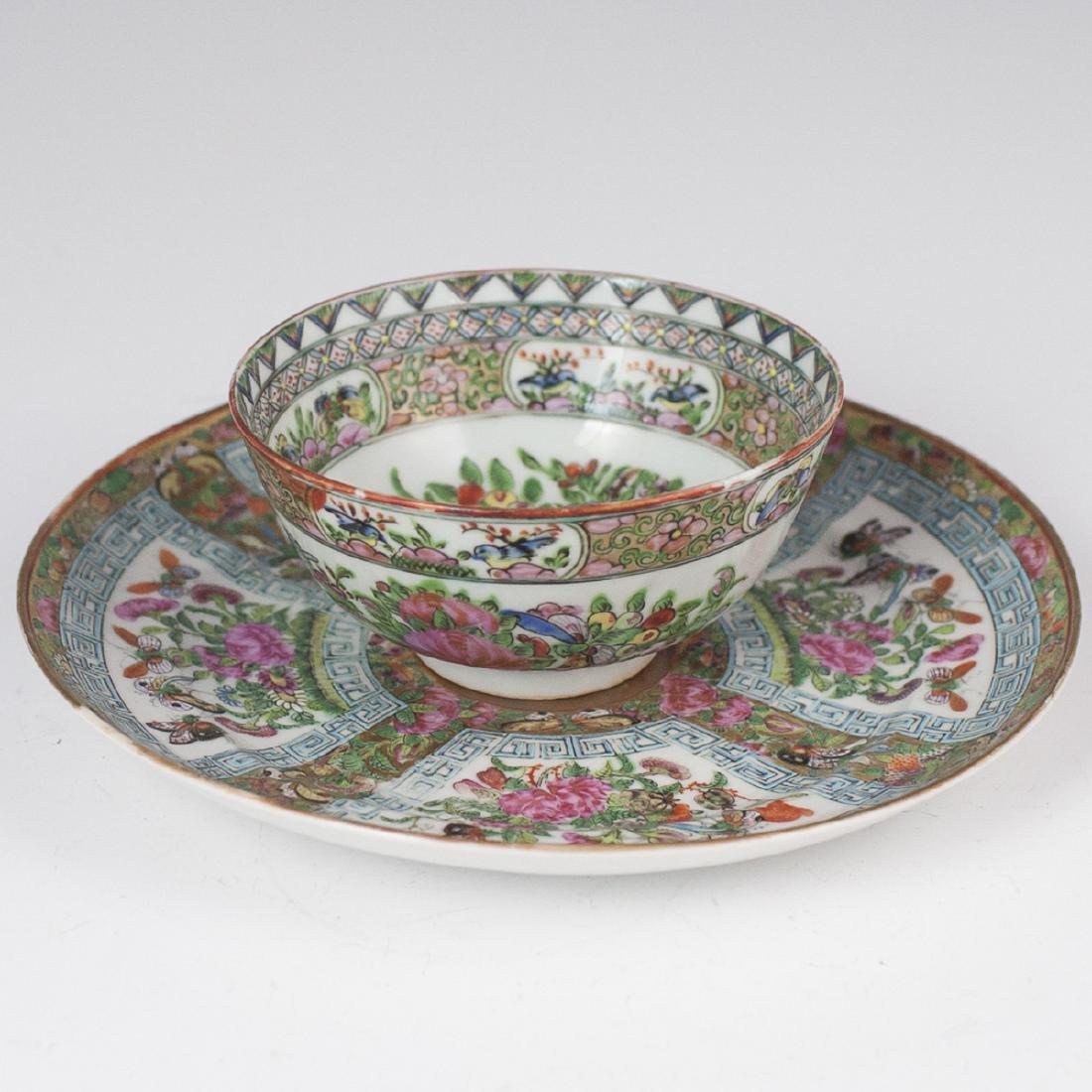 Chinese Export Rose Medallion Porcelain Set