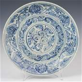 Antique Chinese Pottery Blue  White Bowl