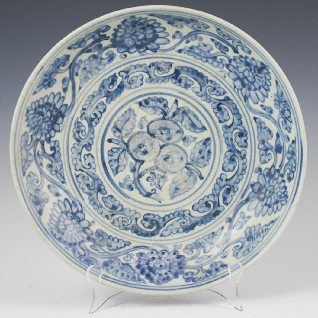 Antique Chinese Pottery Blue & White Bowl