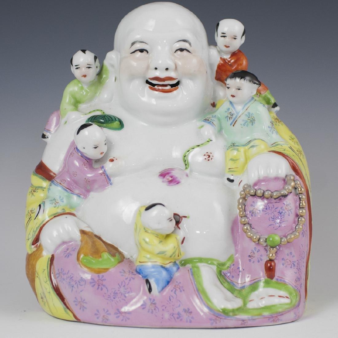 Vintage Chinese Porcelain Laughing Buddha