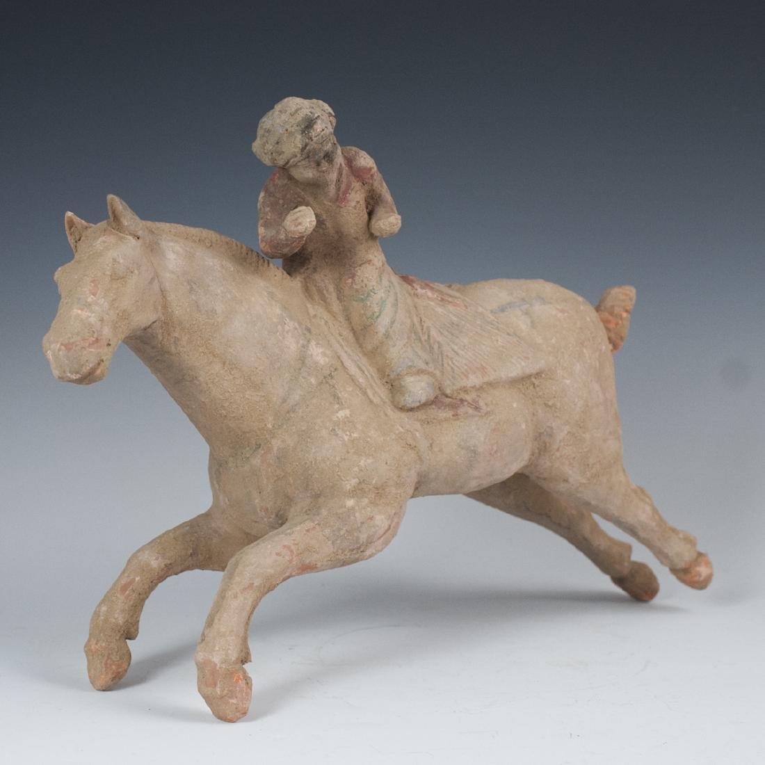 Han Dynasty Earthenware Horse & Rider