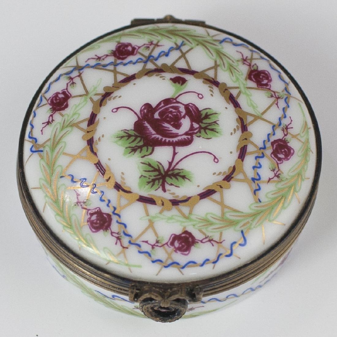Castel Limoges Porcelain Pill Box