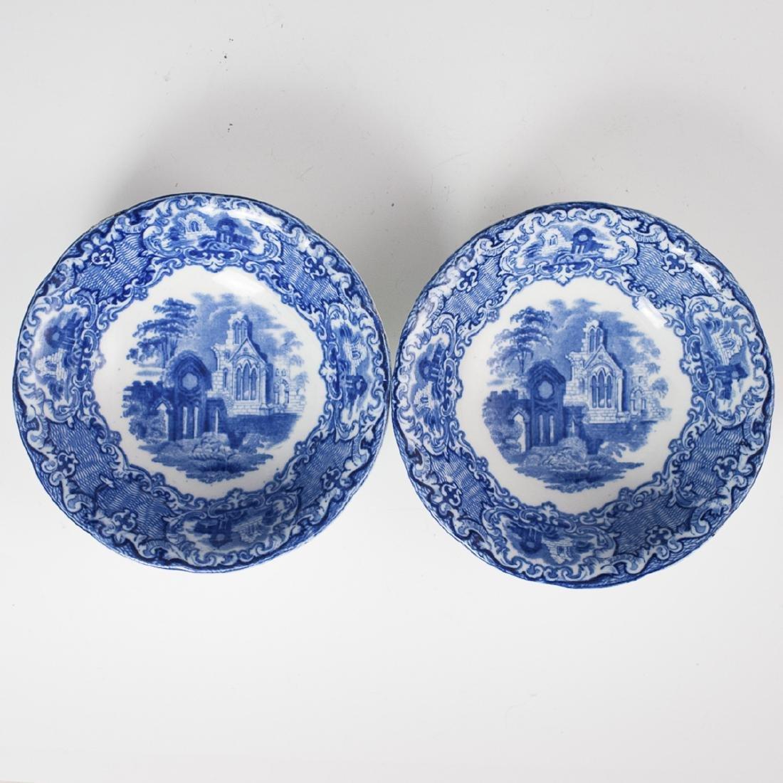 "George Jones & Sons ""Abbey"" Flow Blue Bowls"