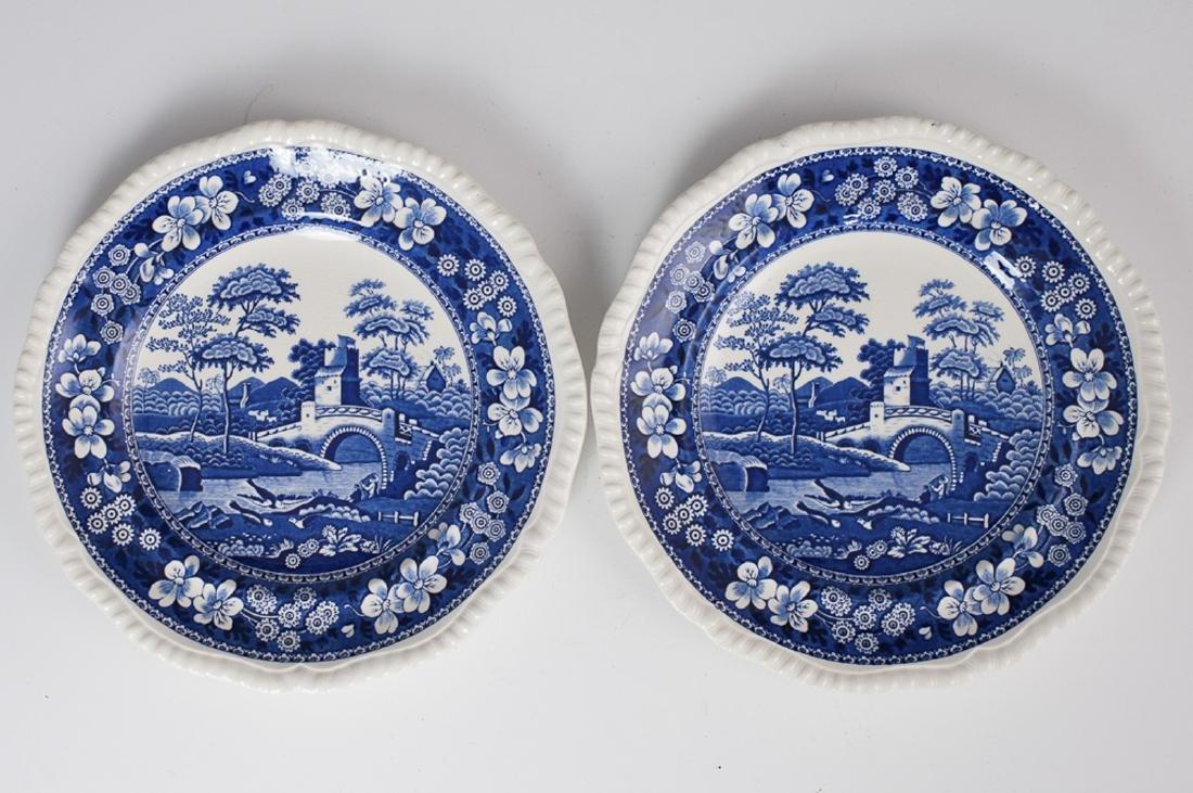 """Copeland """"Spode's Tower"""" Porcelain Plates"""
