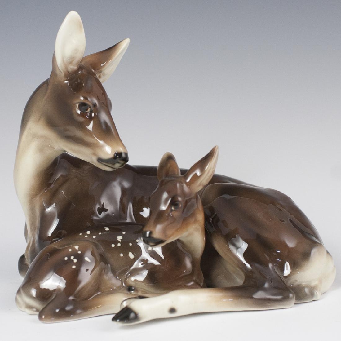 Keramos Austrian Glazed Pottery Figurine