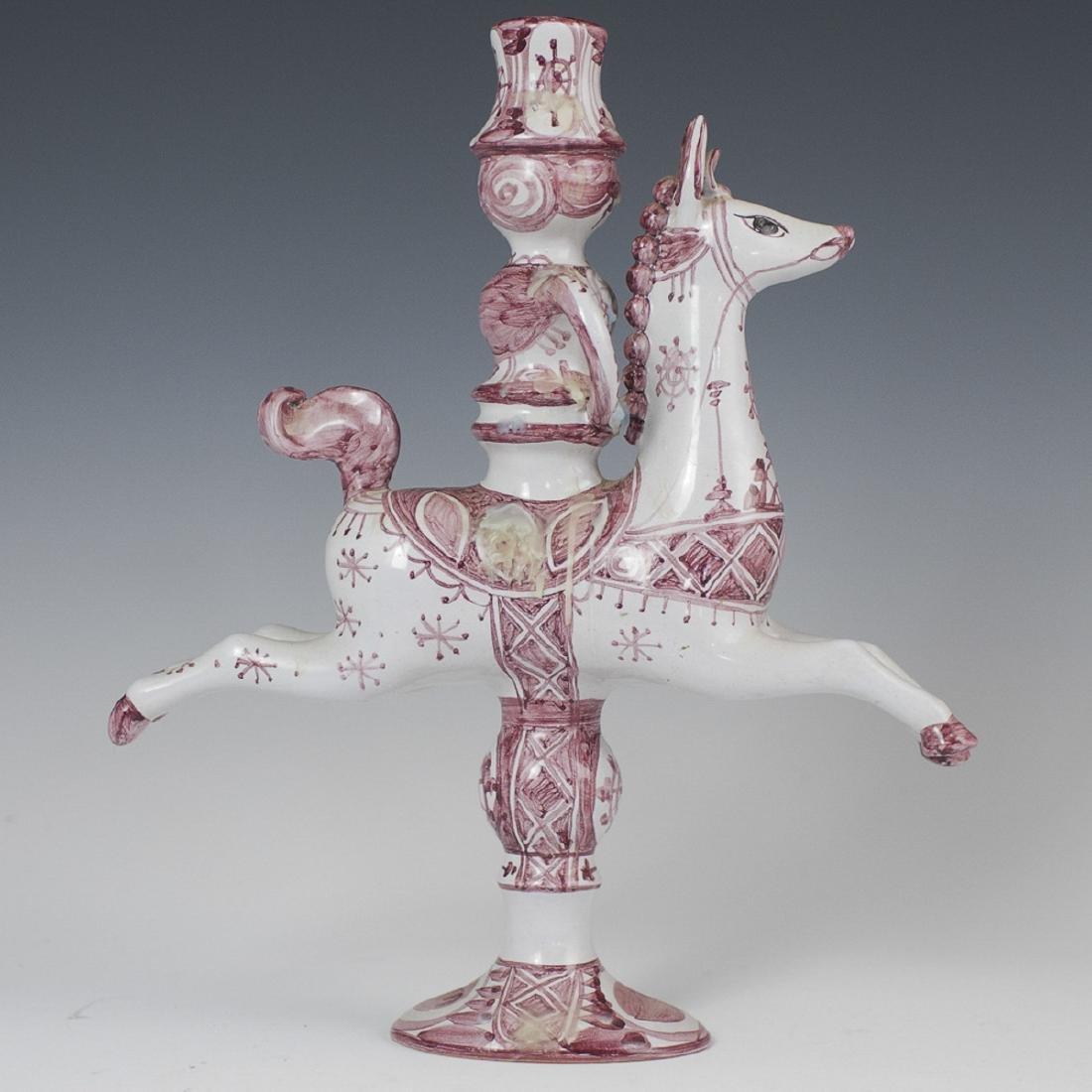 Bjorn Wiinblad Glazed Pottery Candlestick