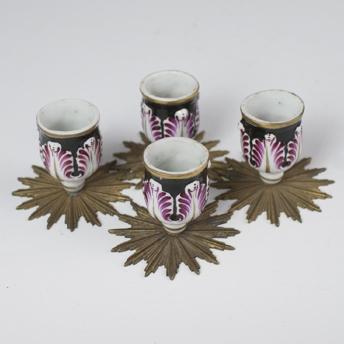 Dore Bronze Mounted Porcelain Bougeoirs