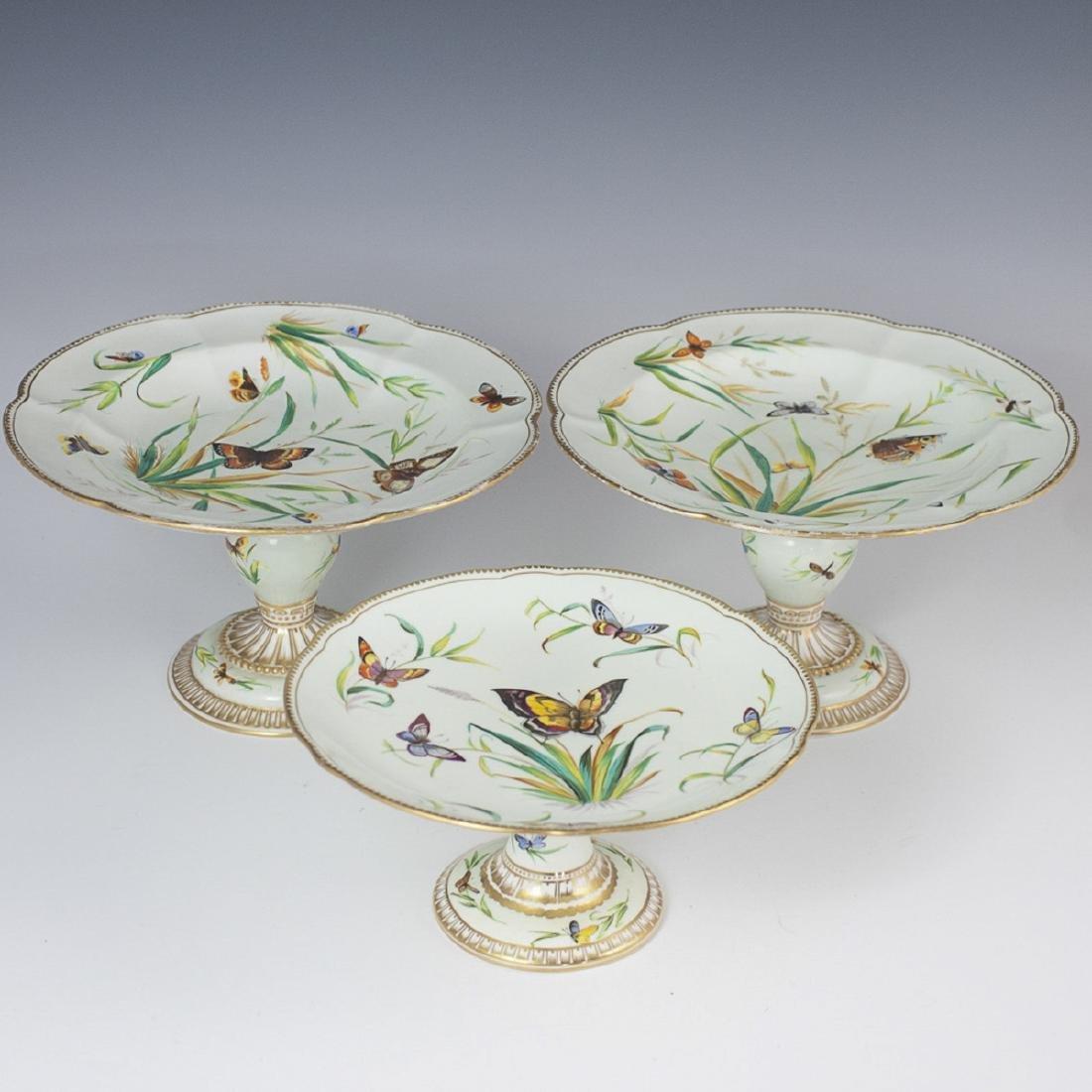 Antique Old Paris Porcelain Tazzas